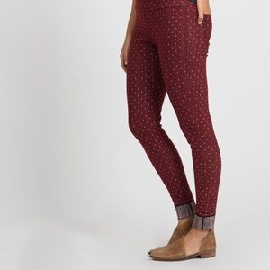 Knit Jegging Pin Dot Black Cherry